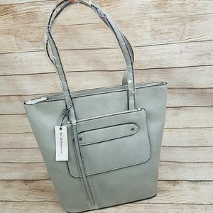 NWT BCBGeneration Tote Bag Purse Gray